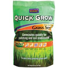 Bonide 60267 20-pound Quick Grow Grass (Green) Seed (Lawn Seed) (Plastic), Gardening