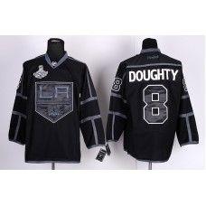 Reebok Los Angeles Kings #8 Drew Doughty Black Stanley Cup Champions Third Hockey Jersey_Drew Doughty Jersey