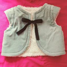 sewing for Mini Me: * um colete :: a vest