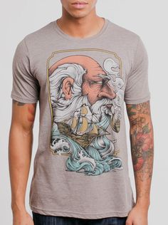 10297f78ae771 Old Man   the Sea - Multicolor on Heather Ash Mens T Shirt - Curbside  Clothing