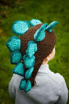 Stegosaurus Crochet Hat