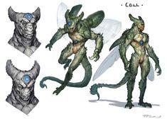 Artstation - creatuanuary taran fiddler dragonball в Alien Concept Art, Creature Concept Art, Creature Design, Fantasy Character Design, Character Concept, Character Inspiration, Fantasy Monster, Monster Art, Alien Creatures