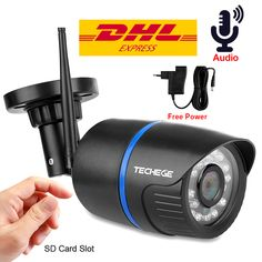 Cheap wifi, Buy Quality ip camera audio directly from China camera onvif Suppliers: Techege WIFI IP Camera Audio HD Network Wireless Camera Onvif Night Vision Waterproof IP Camera Free Adapter Security Surveillance, Security Camera, Video Security, Security Guard, Audio, Wifi, Dvr Cctv, Camera Prices, Wireless Camera