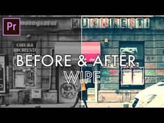 How to create a BEFORE and AFTER Wipe Transition Effect in Adobe Premiere Pro (CC 2017 Tutorial) - YouTube Adobe After Effects Tutorials, Effects Photoshop, Photography And Videography, Video Photography, Video Editing, Photo Editing, Still Picture, Adobe Illustrator Tutorials, Film Studies