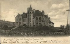 Hulst High School, 1905, Iron Mountain, Michigan