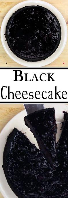 DIY Black Cheesecake: Hi! Today we're gonna try to make black cheesecake for Instructables's Cheese Challenge! Blackberry Cheesecake, Cheesecake Recipes, Dessert Recipes, Kabob Recipes, Fondue Recipes, Potato Recipes, Vegetable Recipes, Dinner Recipes, Hallowen Food