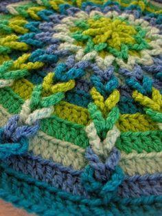 crochet round by rosanne
