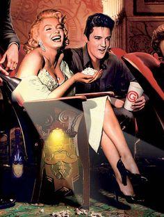 Marilyn Monroe and Elvis Presley.