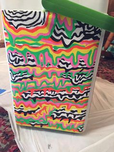 Painted Fraternity Coolers, Frat Coolers, Painted Coolers, Shot Ski, Coolest Cooler, College Supplies, Cooler Designs, Beer Pong Tables, Cooler Painting