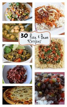 Recipe Round-up :: Rice and Beans. 30 recipes for rice and beans!! For #beansandriceweek Eat Cheaply Change the World!