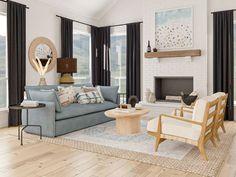 white sofa   should i get a white sofa Living Room Area Rugs, Eclectic Living Room, Room Rugs, Living Room Designs, Living Rooms, Bohemian Living, Bohemian Decor, Bohemian Interior, Bohemian Style