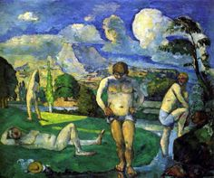 Bathers at Rest 1877 Paul Cezanne art for sale at Toperfect gallery. Buy the Bathers at Rest 1877 Paul Cezanne oil painting in Factory Price. Cezanne Art, Paul Cezanne Paintings, Barnes Foundation, Art Sur Toile, Art Aquarelle, National Gallery, Paul Gauguin, Oil Painting Reproductions, Most Famous Paintings