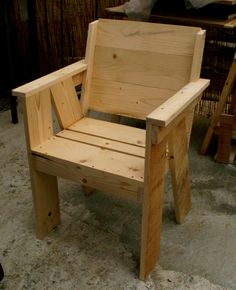 Simple wood chair should be pretty simple. Would look good on the deck or at my desk