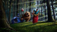 Bear through the camps