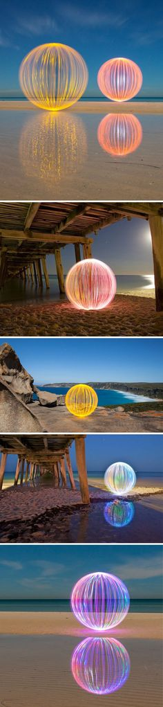 "Oh, I wish that Glenda The Good Witch would suddenly float into frame! Sigh. This is the absolutely lovely, light-filled, magical work of Australian photographer Denis Smith: ""The Ball of Light projec"