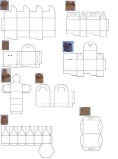 Moldes o plantillas para hacer cajas de cartón. | Quiero más diseño