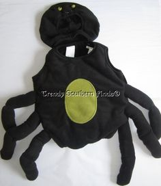 2p nwt pottery barn kids puffy black spider halloween costume 2t 3t - Kids Spider Halloween Costume