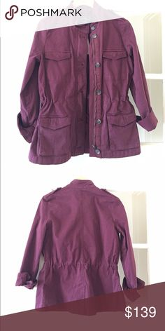 Lucky Brand Military Jacket Burgundy military style from Lucky Brand! Brand new (with tag and hanger). It's the perfect fall jacket! Lucky Brand Jackets & Coats Utility Jackets