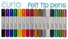 New Silhouette Curio felt tip pens!