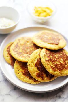 Cornbread Pancakes | www.diethood.com