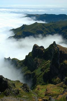 Madeira clouds and mountains, Madeira Island - Portugal
