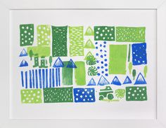 Green Mountain by SUWACHI at minted.com