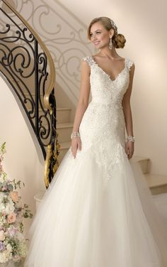 The Most Flattering Wedding Dresses - MODwedding. This, too, is a Stalla York.
