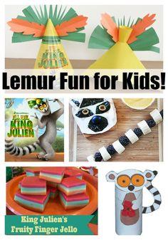 Lemur Fun for Kids   All Hail King Julien on Netflix   #StreamTeam #ad