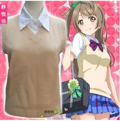 Hot Sale Girls New School Uniforms Short-sleeved Shirt Vest Sweater Japan Anime Game Love Live Cosplay Costumes Cute Girls Style
