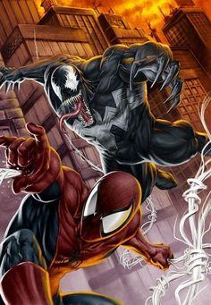 #Venom #Fan #Art. (VENOM VS SPIDERMAN) By: Patrick Y. (THE * 5 * STÅR * ÅWARD * OF * MAJOR ÅWESOMENESS!!!™) ÅÅÅ+
