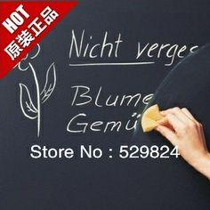Peel and Stick Blackboard Vinyl Chalkboard Wall Sticker Free dust-free chalk*5 size 45cmx200cm/piece Great for Kids Room WS-22 $6.09
