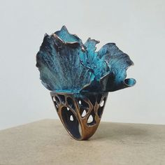 Gingko leaves ring by Ekaterina Korzh