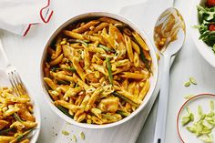 Southwest Chicken Penne - Cook With Campbells Canada Chicken Penne Recipes, Pasta Recipes, Dinner Recipes, Cooking Recipes, How To Cook Pasta, How To Cook Chicken, Campbells Soup Recipes, Southwest Chicken, Cream Of Chicken Soup