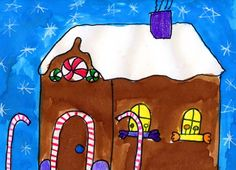 Students can learn how to make a house have form, and not just shape. #artprojectsforkids #gingerbread