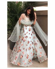 🎉Upgrade Your wardrobe by this beautiful floral embroidered white net lehenga choli set at just Rs Floral Lehenga, Net Lehenga, Lehenga Choli Online, Lehenga Blouse, Indian Lehenga, Indian Gowns, Anarkali Dress, Indian Wedding Outfits, Indian Outfits