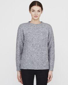 Minimum Casavio Heavy Knit Blouse Women Light Grey