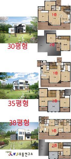주거에 대한 니즈의 변화편안함과 개인의 사생활을 동시에 추구하는 현대인의 주거에 대한 니즈는 자연과 ... Sims Building, Building A House, Modern House Plans, House Floor Plans, Small Modern Home, Timber House, Steel House, Facade House, Cabin Homes