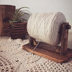 Yarn Storage, Craft Room Storage, Farm Crafts, Home Crafts, Crochet Doilies, Crochet Yarn, Diy Yarn Holder, Crochet Barbie Patterns, Yarn Organization