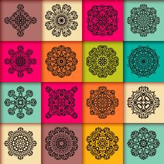 16 Mandalas by ViSnezh on Creative Market