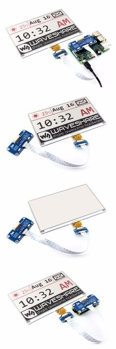 640x384, 7.5inch E-Ink display HAT for Raspberry Pi Red Black White Three-color Display SPI No Backlight Ultra low consumption