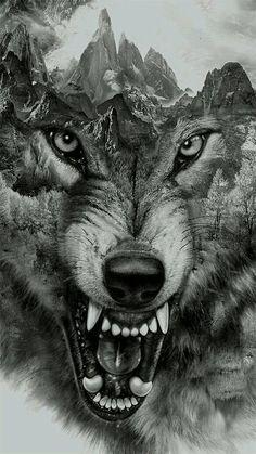 badass shoulder tattoos, full forearm sleeve tattoo, make yo. - badass shoulder tattoos, full forearm sleeve tattoo, make your own tattoo onlin - Wolf Tattoo Design, Tattoo Designs, Tattoo Wolf, Wolf Tattoo On Back, Wolf Design, Behance Illustration, Fenrir Tattoo, Wolf Tattoos For Women, Tattoos For Guys Badass