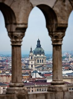 St. Stephen Basilica as seen from the Fisherman's Bastion #Budapest #Hungary