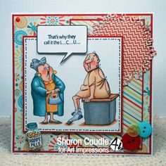 Art Impressions Rubber Stamps: GET Well SC0681 clear stamp set available at Michael's Craft Stores.  ...handmade card.