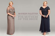 Modern palettes for mothers of the bride. Mother-of-the-bride dresses.