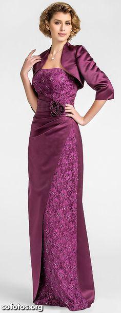 Vestidos de festa 2015 roxo de luxo