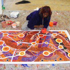 """Australian Aboriginal Art Painting by PATRICIA BAKER TUNKIN """"MINMA MARLILU TJUKURRPA"""" 152 x 90 cm - PB1744 #art #painting #artwork #pintura #peinture #australia"""