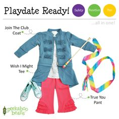 Ribbon Dancing Bean   Peekaboo Beans - playwear for kids on the grow! www.peekaboobeans.com   #PBPlayfulPairings