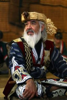 Ainu man. The Ainu are the indigenous people of Japan. They face systematic and societal prejudice