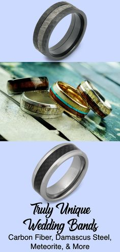 Are you looking for something out of the ordinary for your wedding ring? We'd suggest you check out some of these options from Manly Bands. Wedding Gifts For Men, Unique Wedding Bands, Wedding Men, Wedding Rings, Groom Ring, Antler Ring, Meteorite Ring, Silicone Rings, Damascus Steel