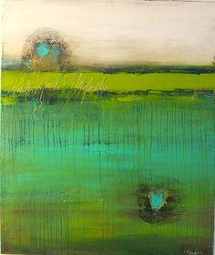 """Birgit Dierker  """"Deep Sea Sight"""" Art Abstract art Abstract art Contemporary Art"""